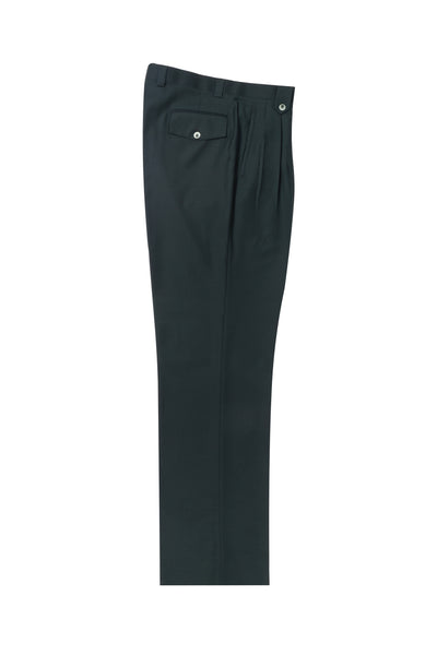 Forest green Wide Leg, Pure Wool Dress Pants by Tiglio Luxe TL4186/5  Tiglio - Italian Suit Outlet