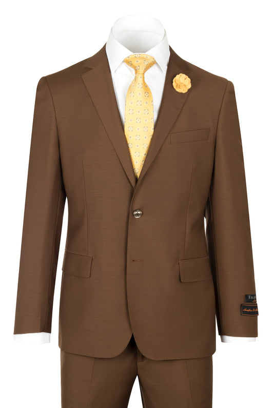 Novello Tobacco Pure Wool Men's Suit by Tiglio Luxe TOBACCO  Tiglio - Italian Suit Outlet
