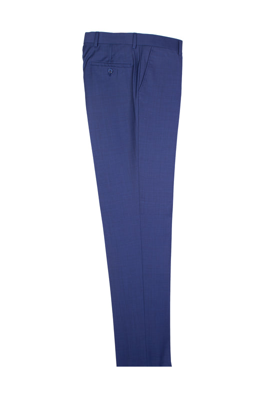 New Blue Slim Fit, Pure Wool Dress Pants by Tiglio Luxe TS4066/2  Tiglio - Italian Suit Outlet