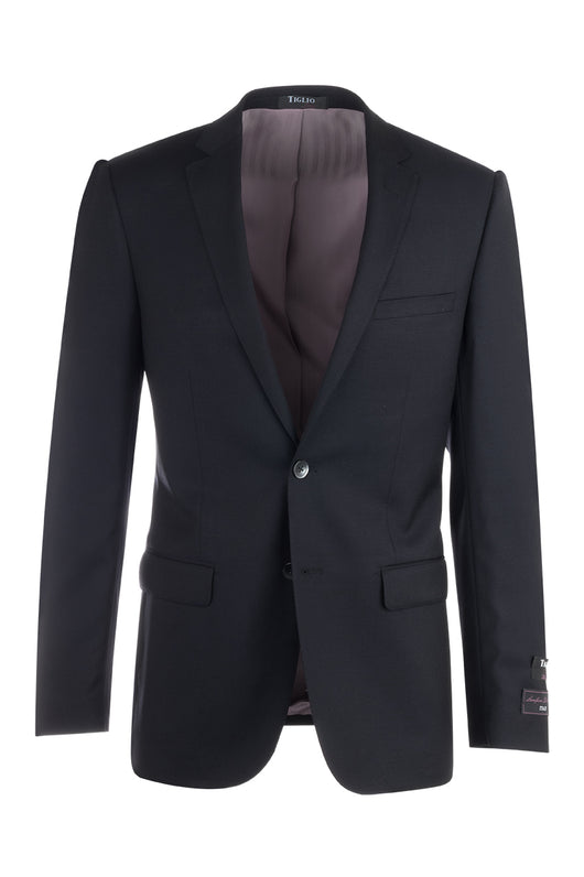 Sienna Black Slim Fit, Pure Wool Jacket by Tiglio Luxe TS4132/1  Tiglio - Italian Suit Outlet