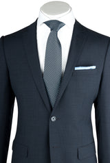 Sienna Blue-Gray Tone on Tone, Slim Fit, Pure Wool Suit by Tiglio Luxe TS6053/4