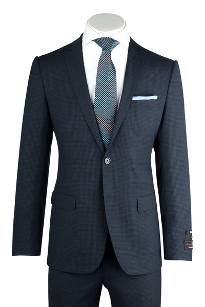 Sienna Blue-Gray Tone on Tone, Slim Fit, Pure Wool Suit by Tiglio Luxe TS6053/4  Tiglio - Italian Suit Outlet