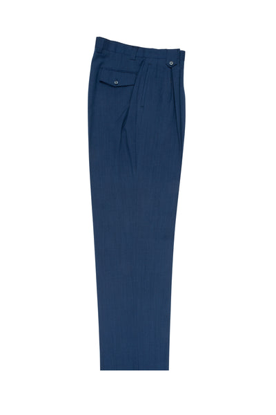 Sharkskin Blue Wide Leg, Pure Wool Dress Pants by Tiglio Luxe TS6092/2  Tiglio - Italian Suit Outlet