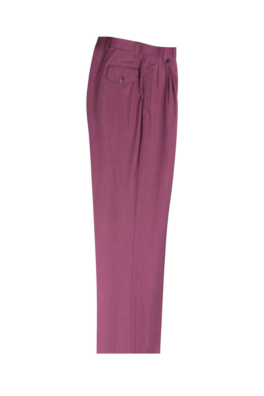 Raspberry Wide Leg, Pure Wool Dress Pants by Tiglio Luxe TS6093/2