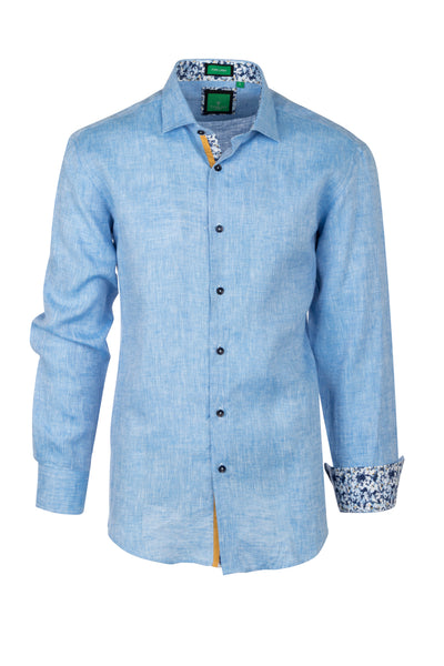 Blue , Modern Fit Sport Shirt by Tiglio Sport TSWH1018  Tiglio - Italian Suit Outlet