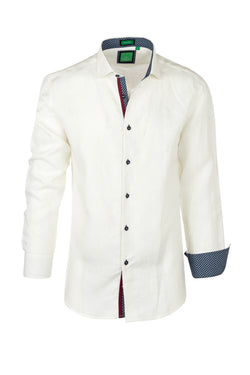Off-white , Modern Fit Sport Shirt by Tiglio Sport TSWH1021  Tiglio - Italian Suit Outlet