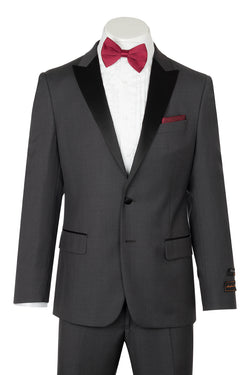 Tiglio Luxe Tufo, Modern Fit, Medium Gray, Pure Wool Tuxedo TIG1008  Tiglio Luxe - Italian Suit Outlet