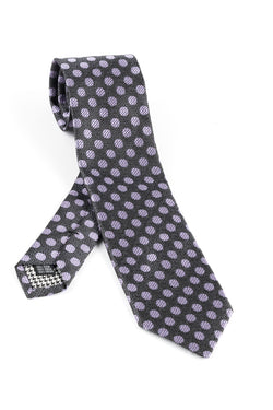 Pure Silk Gray with Blue design Tie by Canaletto V1032  Canaletto - Italian Suit Outlet