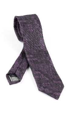Pure Silk Purple and Black Tie by Canaletto V1035