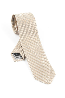 Pure Silk Champagne Tie by Canaletto V1039  Canaletto - Italian Suit Outlet