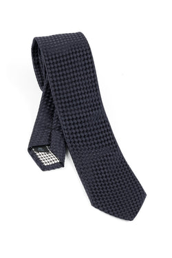 Pure Silk Dark Navy Tie by Canaletto V1040  Canaletto - Italian Suit Outlet