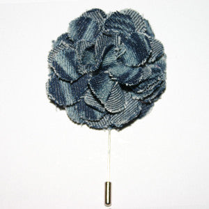 Pitt – Indigo Tie-Dye  Flower Lapel Pins - Italian Suit Outlet