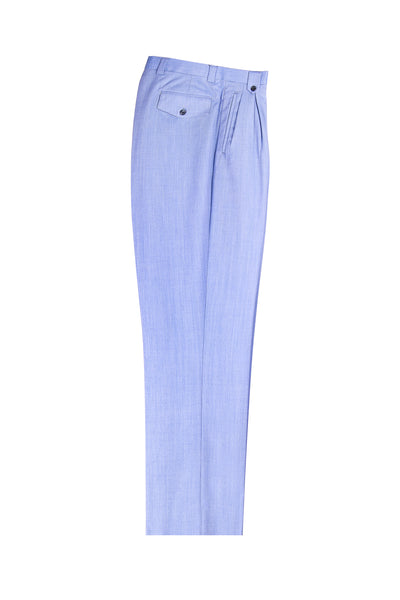 Light Blue Wide Leg, Pure Wool Dress Pants by Tiglio Luxe V844/958/110  Tiglio - Italian Suit Outlet