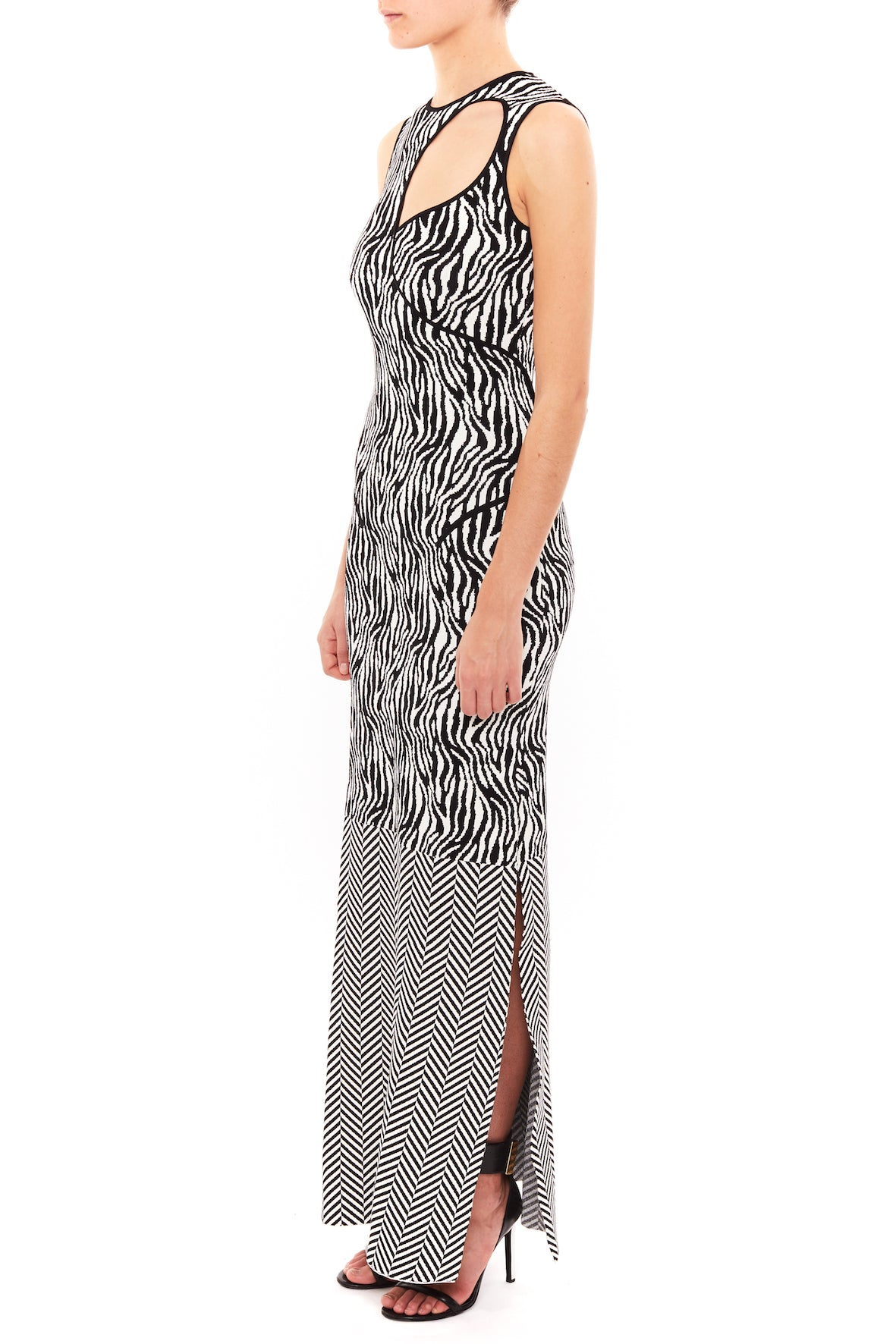 KNIT TEAR DROP COLUMN GOWN