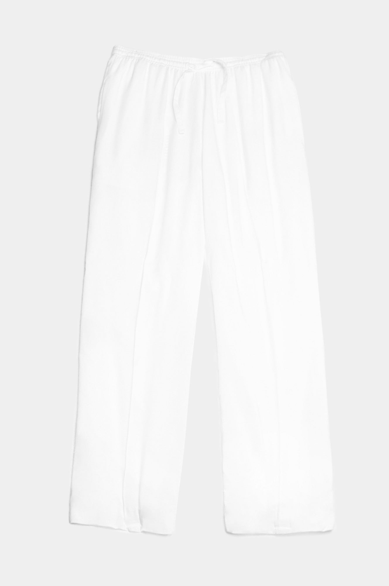WHITE LOOSE FIT TROUSERS - Esteban Cortazar