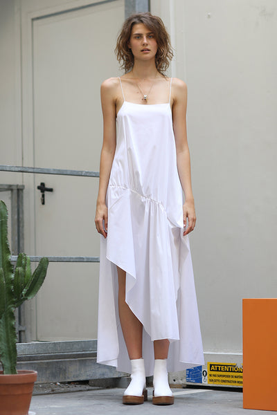 GATHERED SLIP DRESS