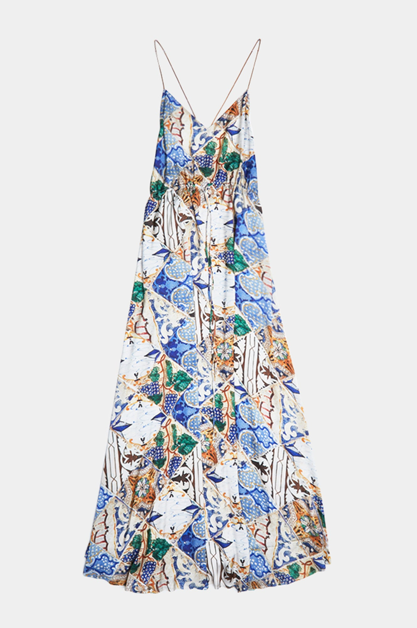 TILE PRINT LONG DRESS - Esteban Cortazar