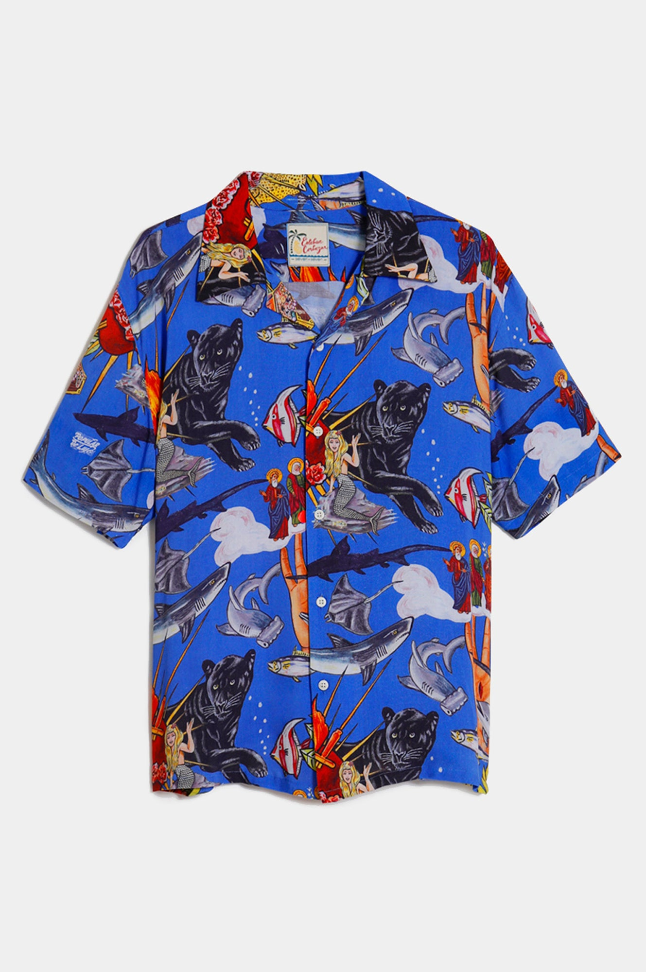 POPULAR DE LUJO PRINT SHORT SLEEVE SHIRT - Esteban Cortazar