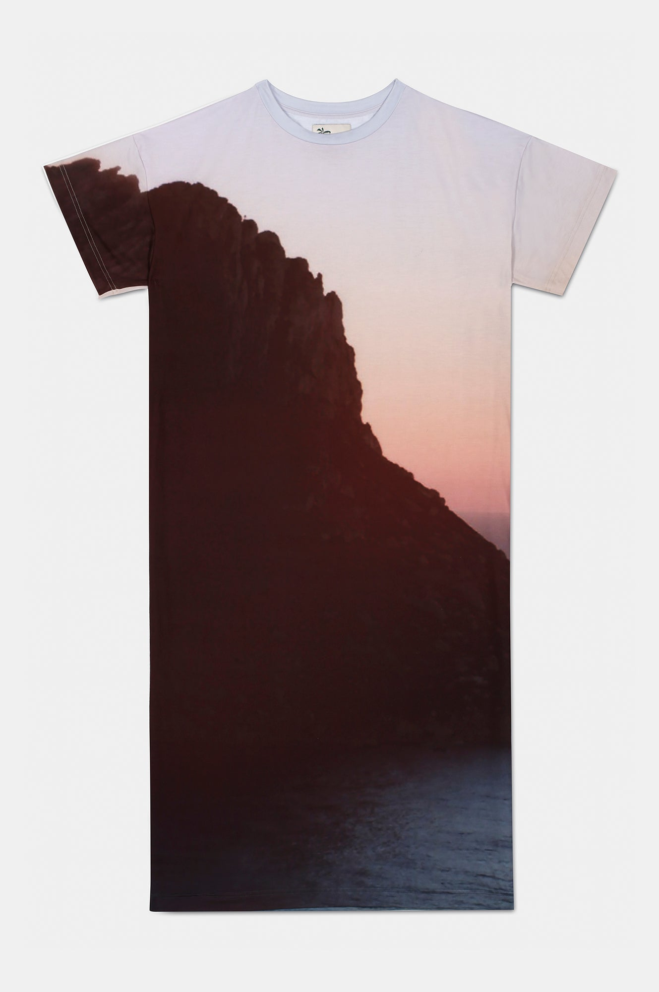 ES VEDRA SUNSET PRINT T-SHIRT DRESS