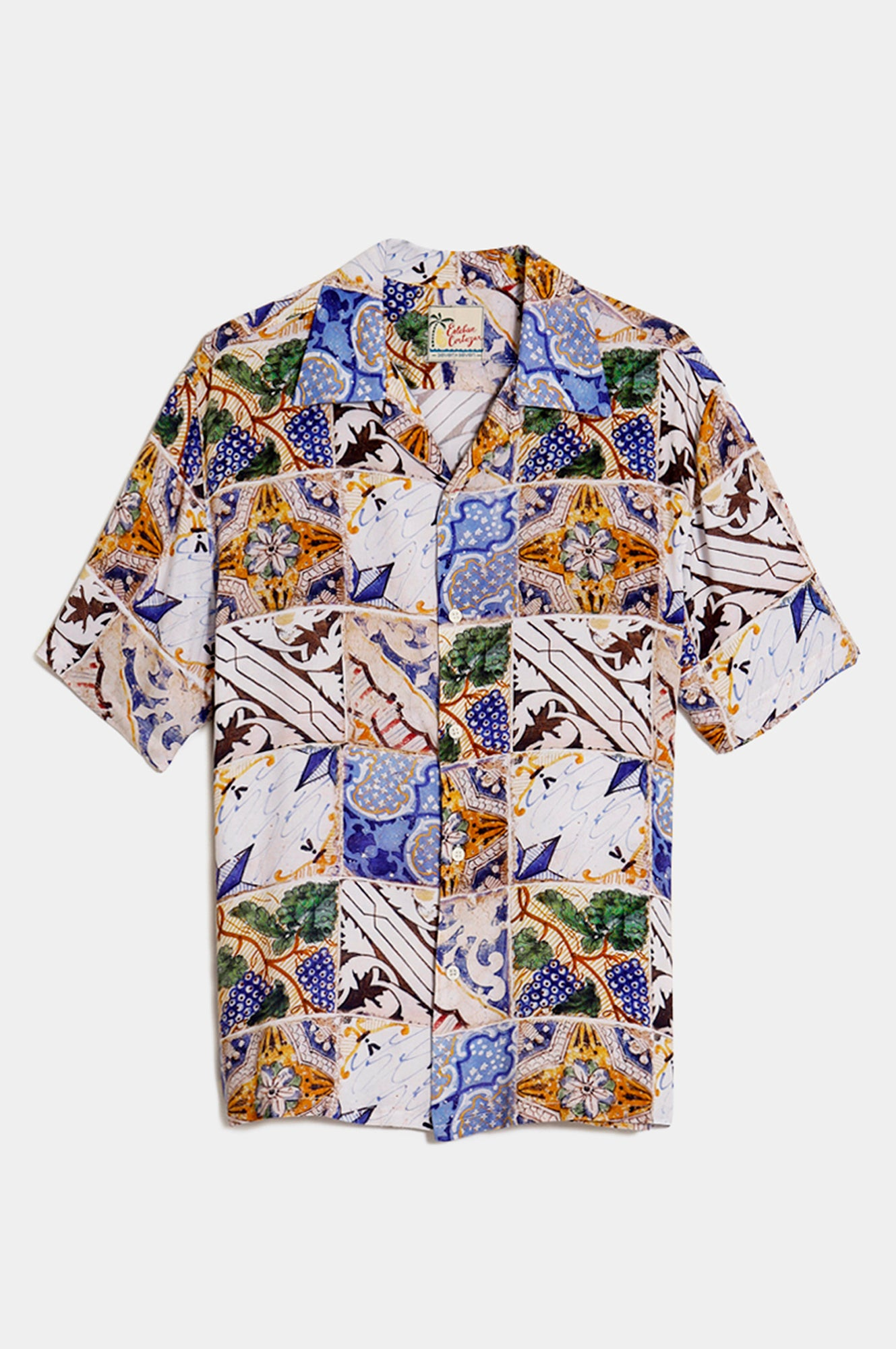 TILE PRINT SHORT SLEEVE SHIRT - Esteban Cortazar