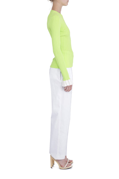CREW NECK NEON SWEATER