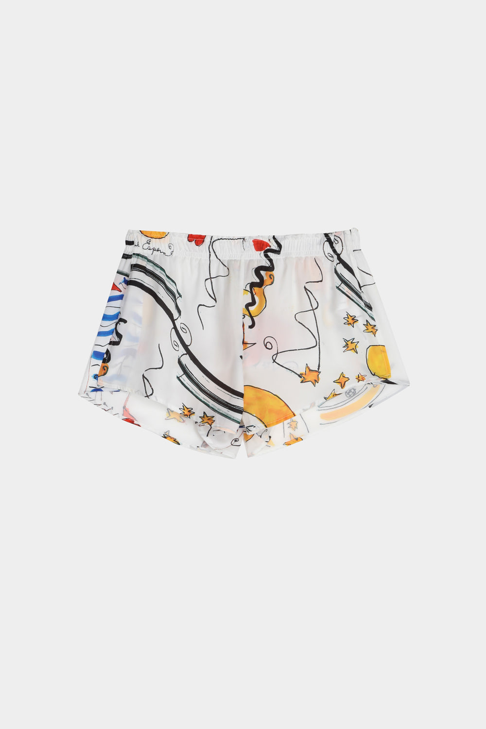 Miami mi amor print mini shorts