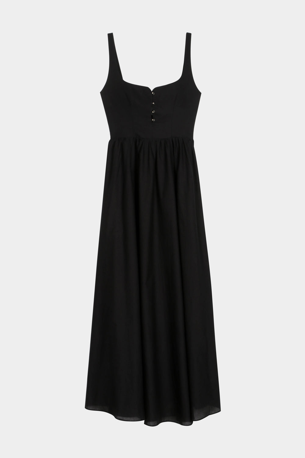 BLACK LONG CORSET DRESS