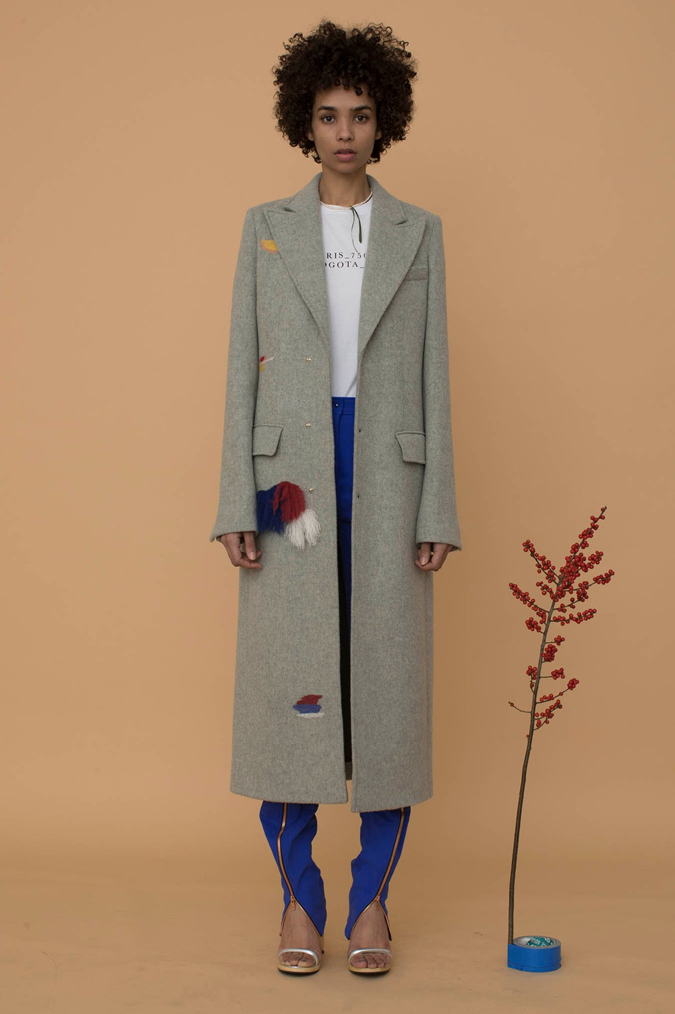 EMBROIDERED TAILORED COAT