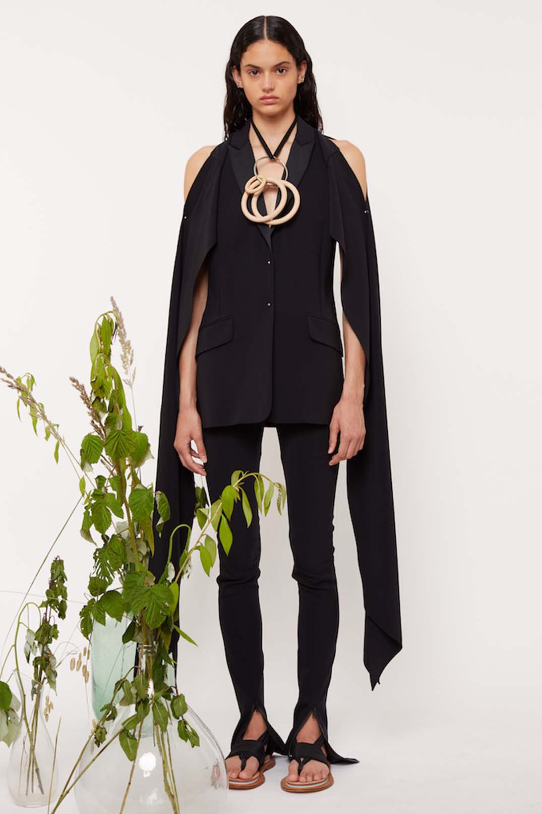 DRAPED SLEEVES TUXEDO JACKET - Esteban Cortazar