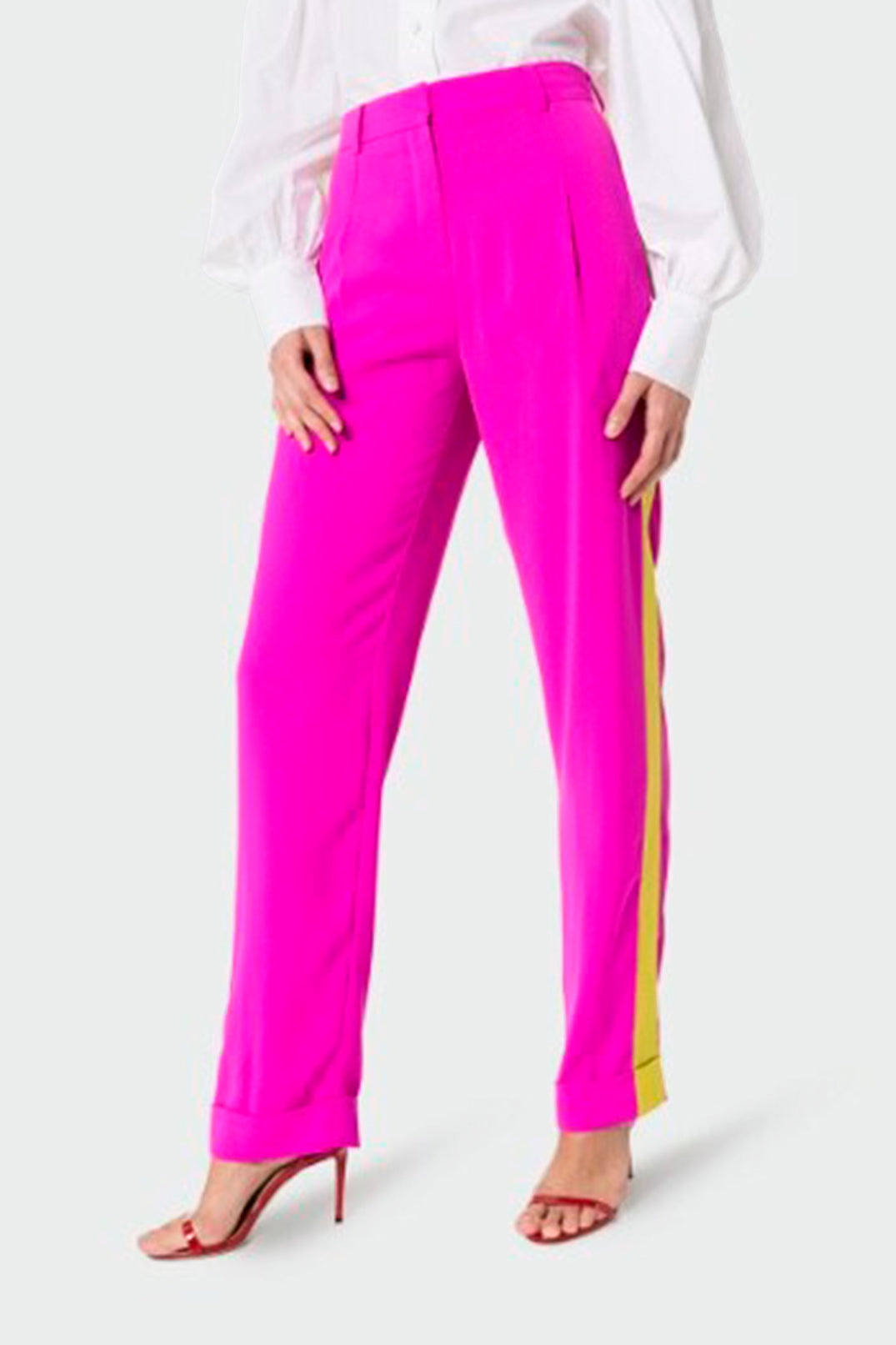 Tailored pants with contrast side