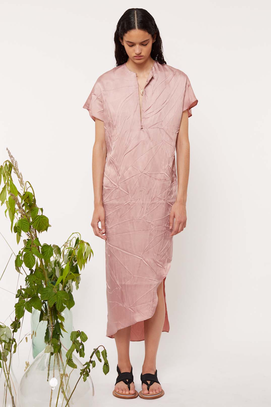 TUNIC CALF LENGTH DRESS - Esteban Cortazar