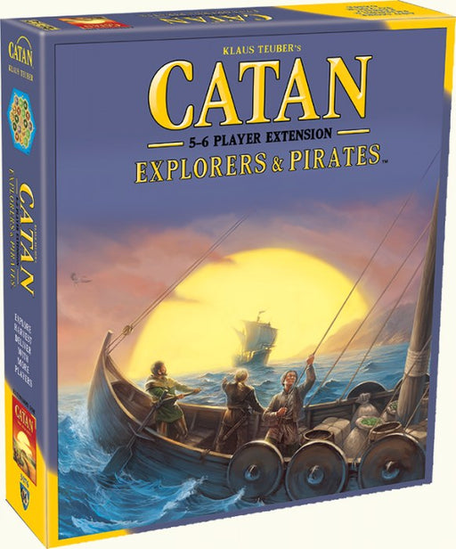 Catan 5th Edition - Explorers & Pirates 5-6 player Extension Mayfair Games | Cardboard Memories Inc.