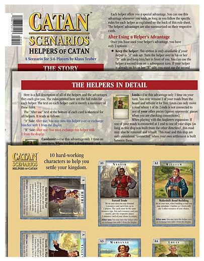 Catan Scenarios - Helpers of Catan Mayfair Games | Cardboard Memories Inc.