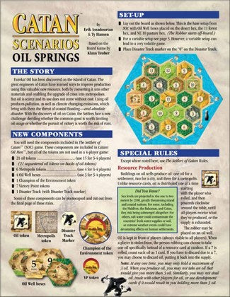 Catan Scenarios - Oil Springs Mayfair Games | Cardboard Memories Inc.