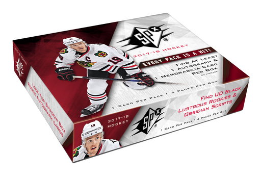 2017-18 Upper Deck SPX Hockey Hobby Box Upper Deck | Cardboard Memories Inc.