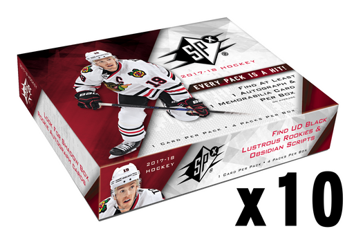 2017-18 Upper Deck SPX Hockey Hobby Inner Case (10) Upper Deck | Cardboard Memories Inc.