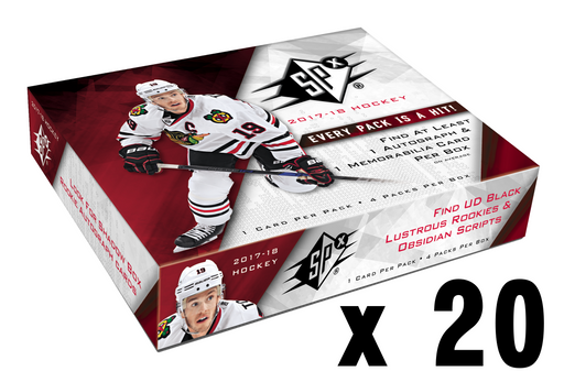 2017-18 Upper Deck SPX Hockey Hobby Master Case (20) Upper Deck | Cardboard Memories Inc.