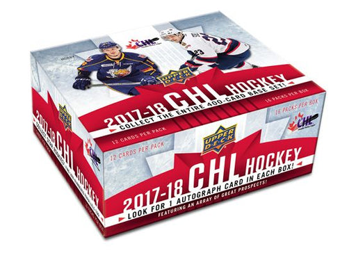 2017-18 Upper Deck CHL Hockey Hobby Box Upper Deck | Cardboard Memories Inc.