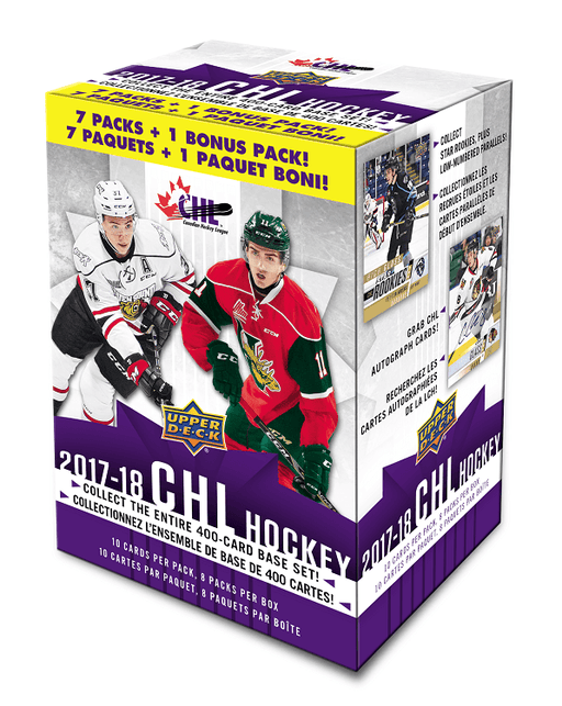 2017-18 Upper Deck CHL Hockey Blaster Box Upper Deck | Cardboard Memories Inc.