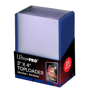 Ultra Pro Top Loaders - 3x4 Blue Border Pack Ultra Pro | Cardboard Memories Inc.