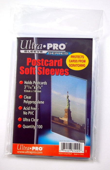 Ultra Pro - Postcard Soft Sleeves