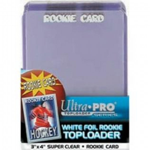 Ultra Pro Top Loaders - 3x4 White Foil Rookie (40-Pack Combo) Ultra Pro | Cardboard Memories Inc.