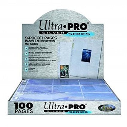 Ultra Pro - Silver Series 9 Pocket Binder Pages Case of 10