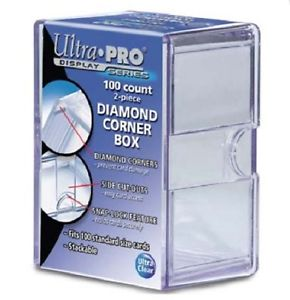 Ultra Pro 2-Piece Box - 100 Count Diamond Corner Box (10-Box Combo) Ultra Pro | Cardboard Memories Inc.