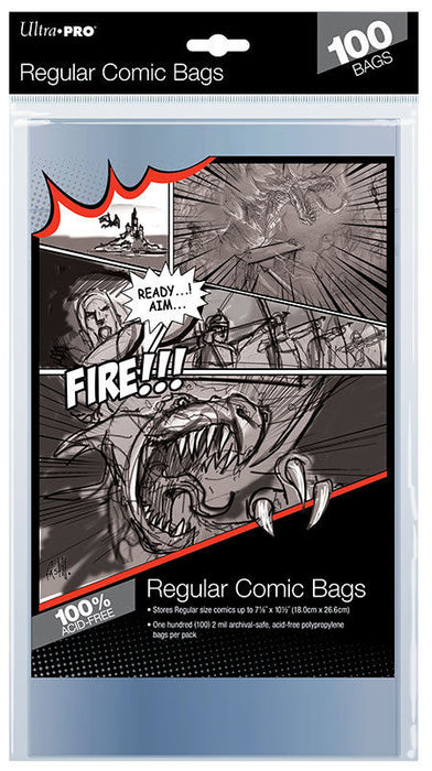 Ultra Pro Comic Series - Regular Size Comic Bags (Case of 10) Ultra Pro | Cardboard Memories Inc.