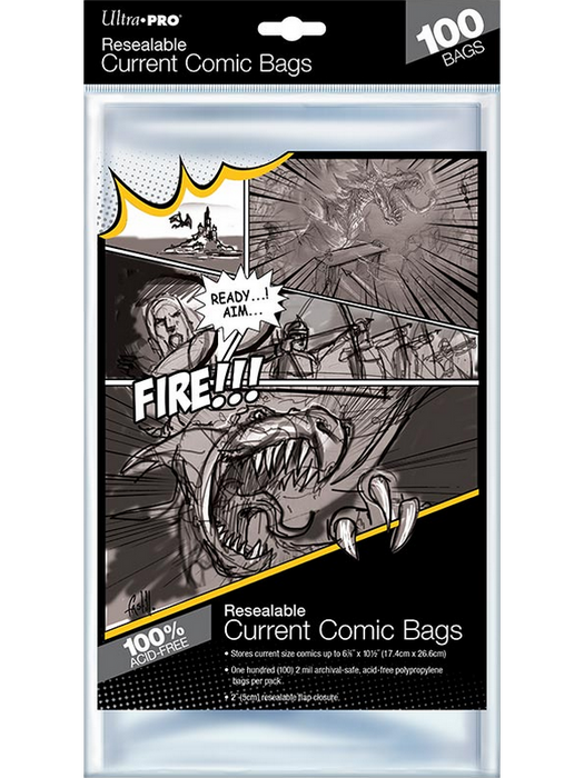 Ultra Pro - Comic Series - Resealable Current Size Comic Bags