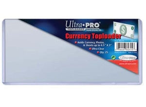Ultra Pro Top Loaders - Currency Ultra Pro | Cardboard Memories Inc.