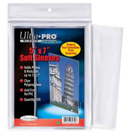 Ultra Pro - 5x7 Soft Sleeves Ultra Pro | Cardboard Memories Inc.