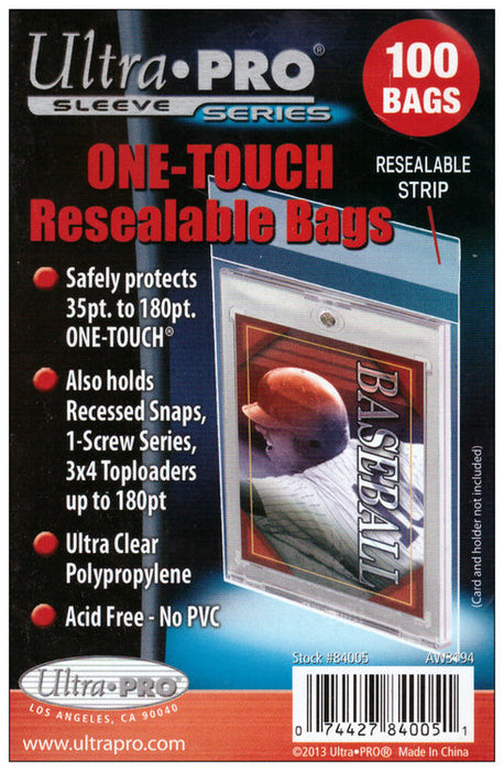 Ultra Pro - One Touch Resealable Bags Ultra Pro | Cardboard Memories Inc.