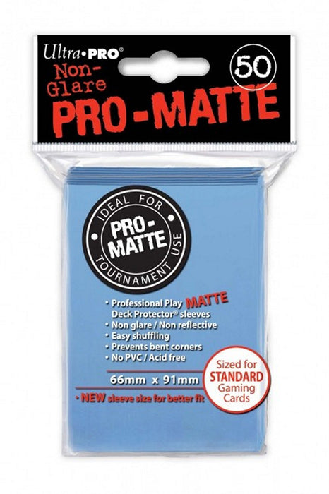 Ultra Pro - Deck Protectors - Standard Size - 50 Count Matte Light Blue